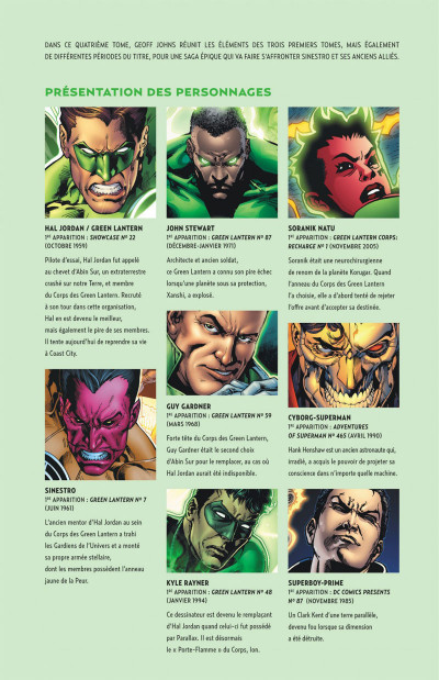Page 5 Geoff Johns Présente Green Lantern tome 4