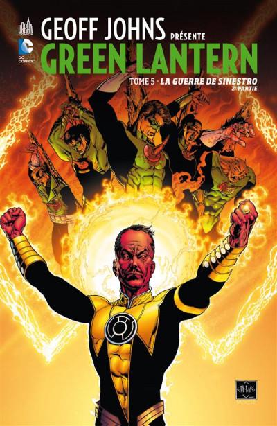 Couverture Geoff Johns présente Green Lantern tome 5 - la guerre de Sinestro tome 2