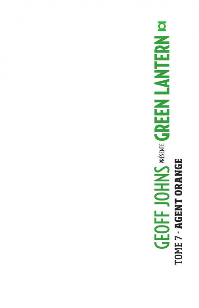 Page 1 Geoff Johns présente Green Lantern tome 7