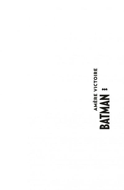 Page 1 Batman amère victoire - édition 75 ans