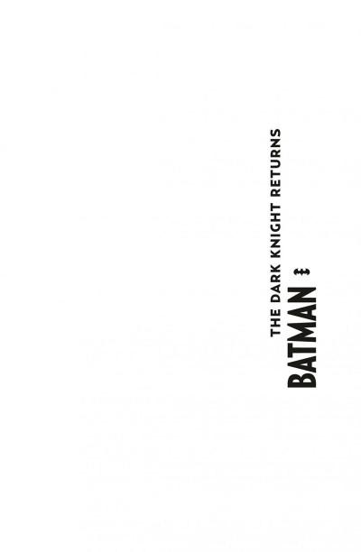 Page 1 Batman the dark knight returns - édition 75 ans
