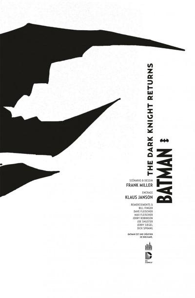 Page 3 Batman the dark knight returns - édition 75 ans