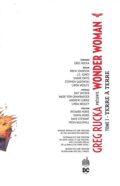 Page 3 Greg Rucka présente Wonder Woman tome 1