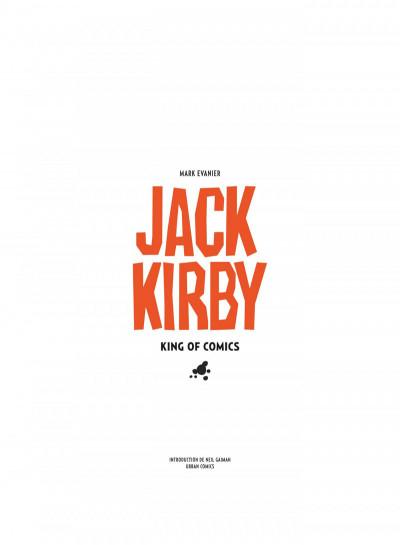 Page 7 Jack Kirby, king of comics par Mark Evanier