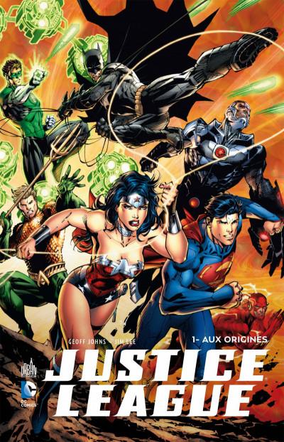Couverture Justice League tome 1 - aux origines + Blu-ray