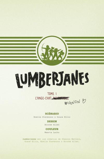 Page 3 Lumberjanes tome 1