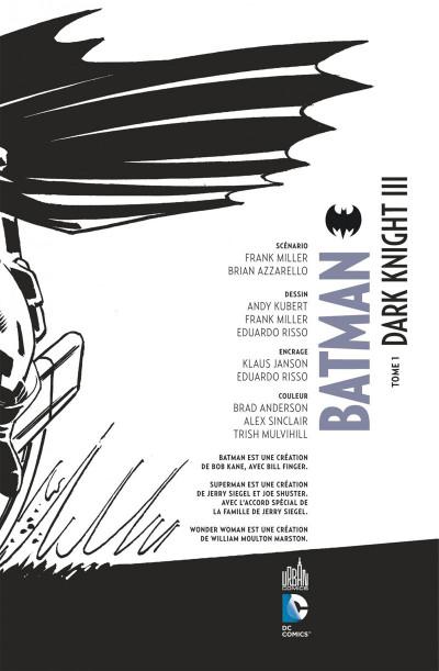 Page 3 Batman dark knight III tome 1