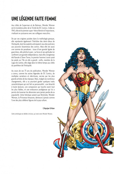 Page 2 Wonder Woman anthologie