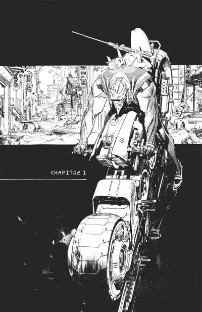 Page 6 Tokyo ghost tome 1 - édition n&b