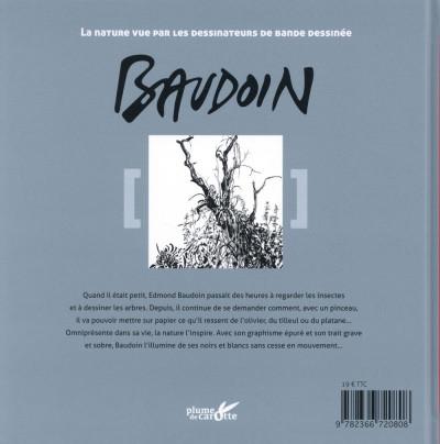 Dos Le carnet nature de Baudoin