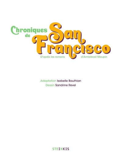 Page 1 Chroniques de San Francisco tome 1