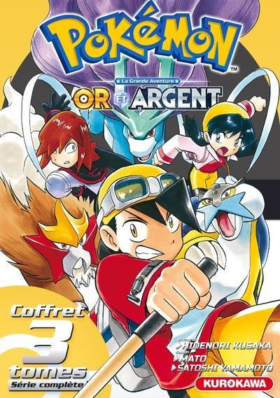 Couverture Pokémon - or et argent - coffret tomes 1 à 3