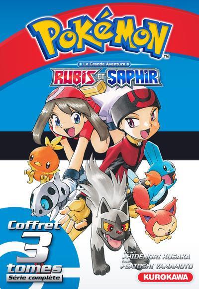 Couverture Pokémon - Rubis et Saphir - coffret tomes 1 à 3