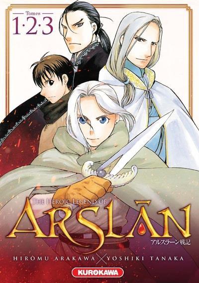 Couverture The heroic legend of Arslân - coffret tomes 1 à 3