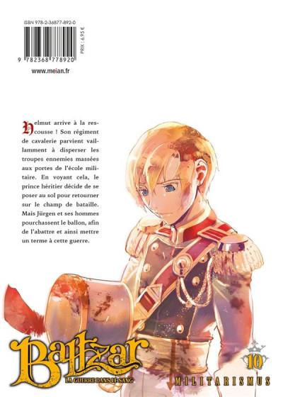 Dos Baltzar - la guerre dans le sang tome 10