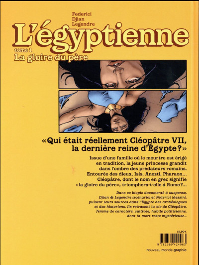 Dos L'égyptienne tome 1