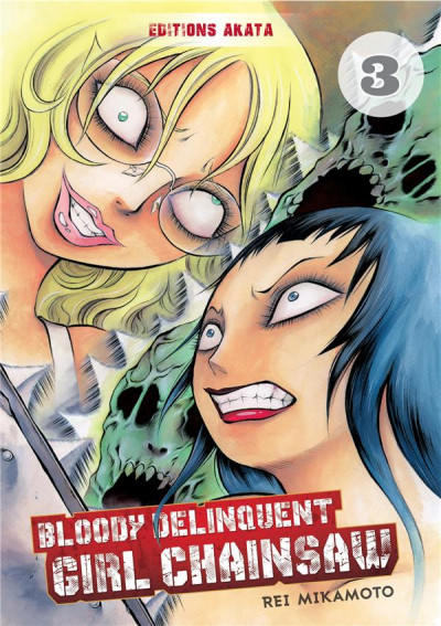 Couverture Bloody delinquent girl chainsaw tome 3