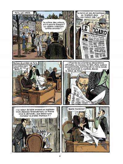Page 1 Arsène Lupin, les origines tome 3