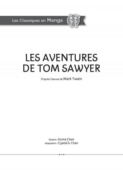 Page 3 Les aventures de Tom Sawyer