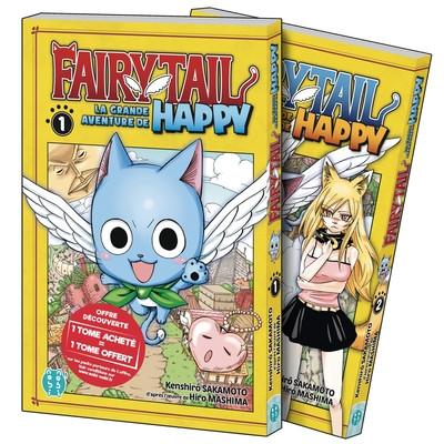 Couverture Fairy Tail - la grande aventure de Happy - Pack découverte tomes 1 et 2