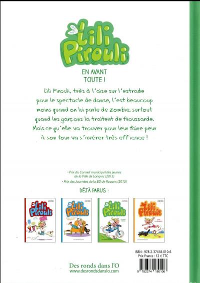 Dos Lili Pirouli tome 3 - en avant toute !
