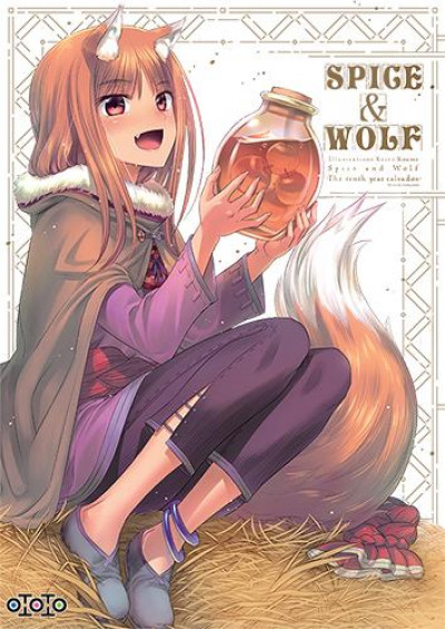 Couverture Artbook Spice & wolf the tenth year calvados