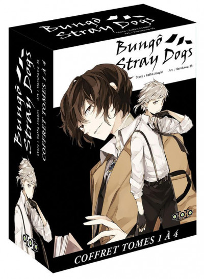 Couverture Coffret Bungô stray dogs tomes 1 à 4