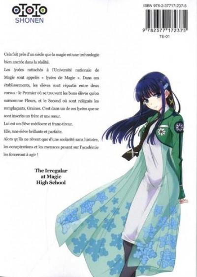 Dos The irregular at magic high school - enrôlement tome 1
