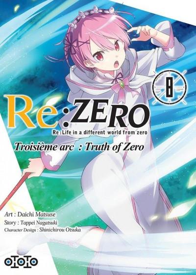 Couverture Re : Zero - Troisème arc : truth of zero tome 8