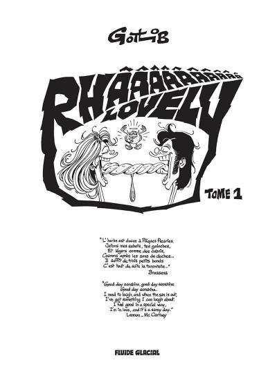 Page 1 Rhââ lovely tome 1 (nouvelle édition)