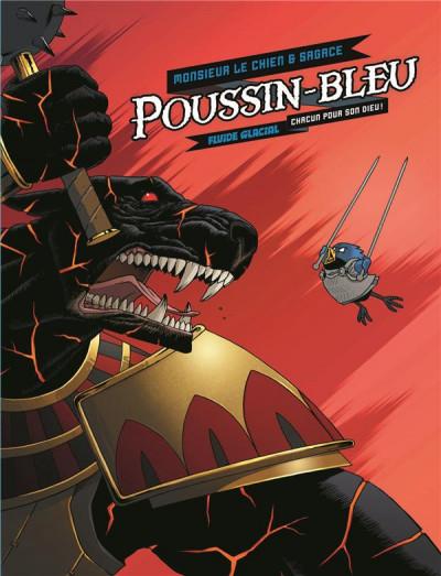 Couverture Poussin bleu - écrin tomes 1 et 2 + papertoy offert