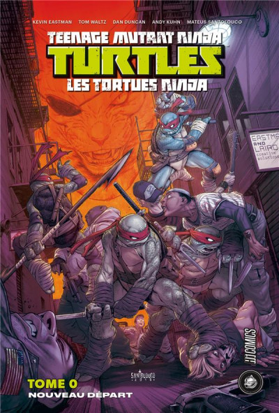 Couverture Les tortues ninja - Nouveau départ (omnibus)