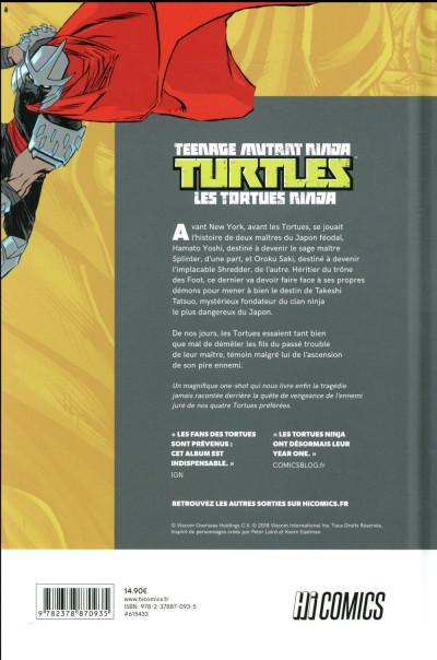 Dos Les tortues ninjas TMNT - L'histoire secrète du Clan Foot