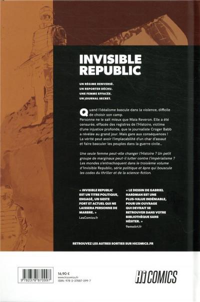 Dos Invisible republic tome 3