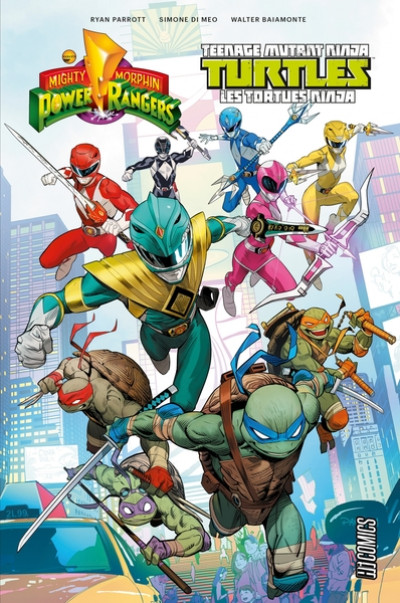 Couverture Power Rangers & tortues ninja tome 1