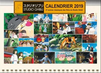 Couverture Studio Ghibli - calendrier 2019