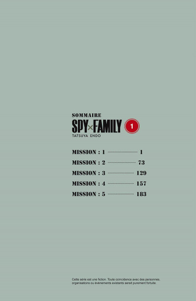 Page 5 Spy x family tome 1