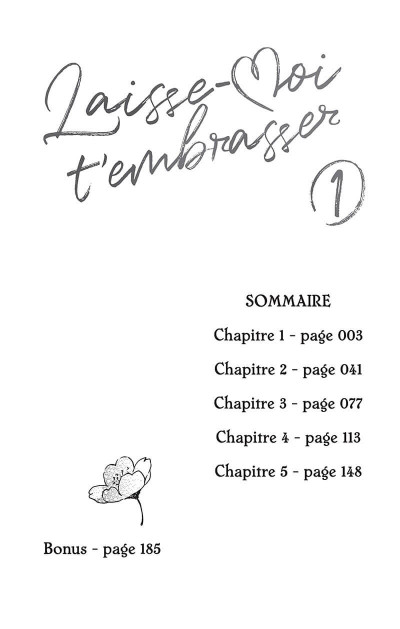 Page 3 Laisse-moi t'embrasser tome 1