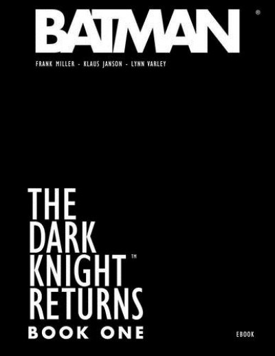 Couverture The dark knight returns - book one