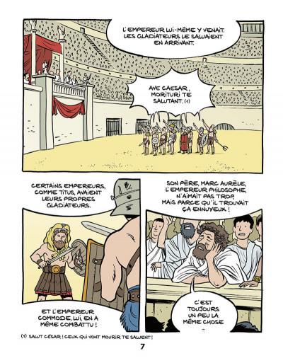 Page 9 Le fil de l'Histoire raconté par Ariane & Nino tome 10 - Les gladiateurs