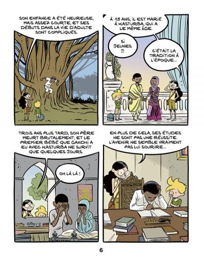 Page 8 Le fil de l'histoire raconté par Ariane & Nino tome 16 - Gandhi