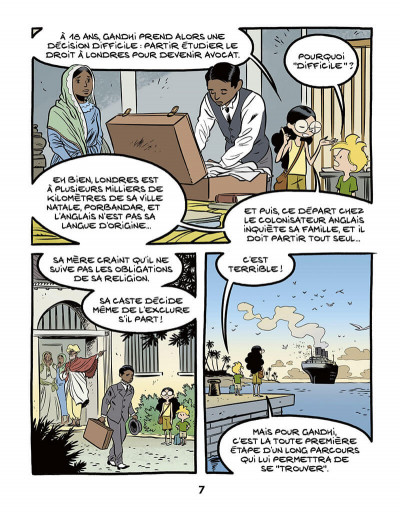 Page 9 Le fil de l'histoire raconté par Ariane & Nino tome 16 - Gandhi