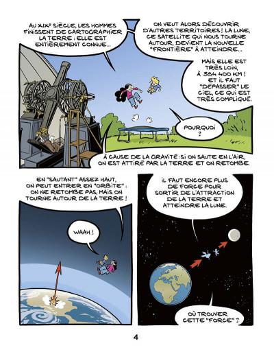 Page 4 Ariane & Nino tome 20 - Le premier pas sur la lune, mission Apollo