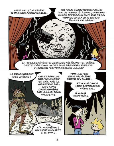 Page 5 Ariane & Nino tome 20 - Le premier pas sur la lune, mission Apollo