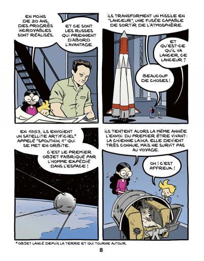 Page 8 Ariane & Nino tome 20 - Le premier pas sur la lune, mission Apollo