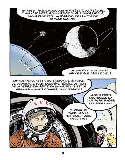 Page 9 Ariane & Nino tome 20 - Le premier pas sur la lune, mission Apollo