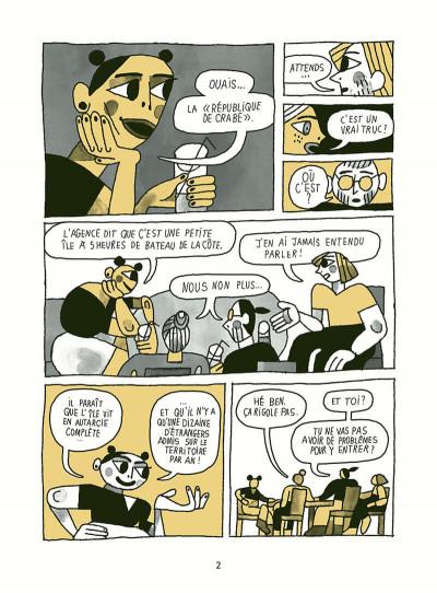 Page 2 Voyage en république de crabe