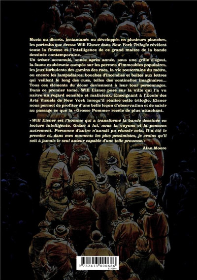Dos Will Eisner - intégrale tome 1 - New York trilogie