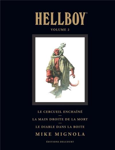 Couverture Hellboy deluxe tome 2 - Le cercueil enchaîné et La main droite de la mort