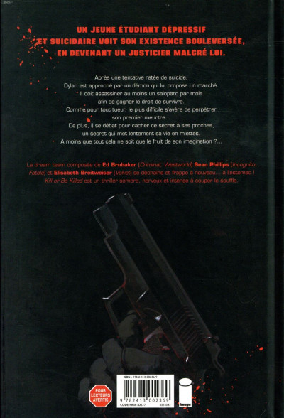 Dos Kill or be killed tome 1 + ex-libris offert